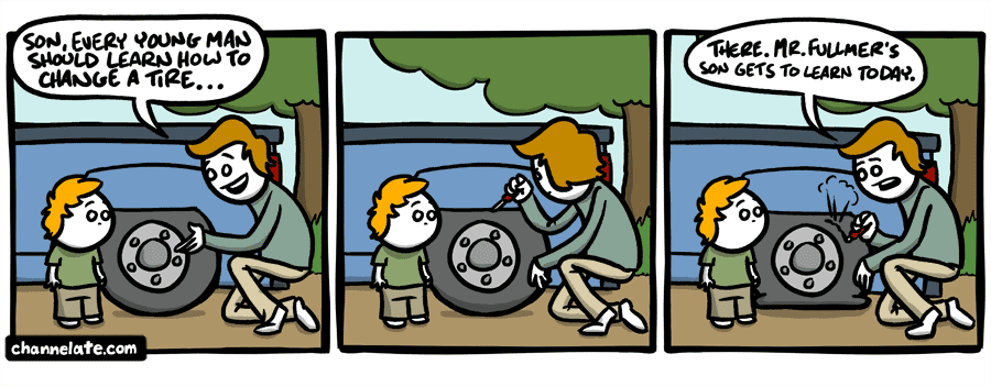 Life s lessons changing tires